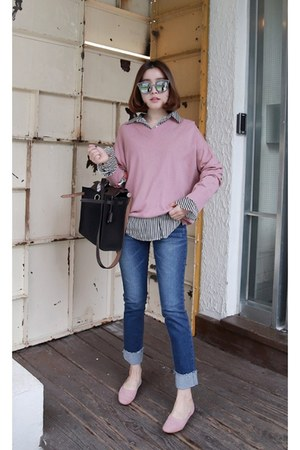 light pink MIAMASVIN top - navy MIAMASVIN pants