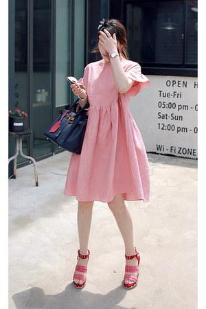 pink babydoll dress MIAMASVIN dress - salmon MIAMASVIN heels