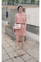 light pink MIAMASVIN dress - silver MIAMASVIN flats