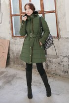 black MIAMASVIN boots - olive green MIAMASVIN jacket - MIAMASVIN leggings