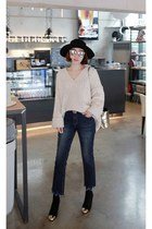 black MIAMASVIN boots - beige MIAMASVIN sweater