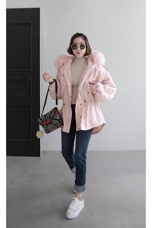 navy MIAMASVIN jeans - light pink MIAMASVIN top