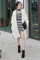black MIAMASVIN boots - white MIAMASVIN dress - MIAMASVIN bag