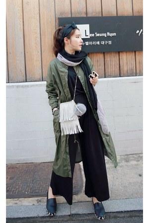 olive green MIAMASVIN jacket - black MIAMASVIN pants - MIAMASVIN flats