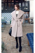 neutral MIAMASVIN coat - black MIAMASVIN pumps