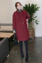 MIAMASVIN boots - brick red MIAMASVIN coat - MIAMASVIN tights