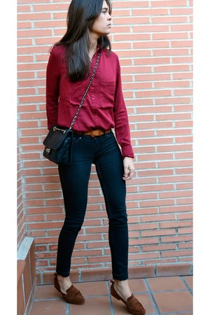 Mango blazer - Zara shoes - H&M jeans - Stradivarius shirt