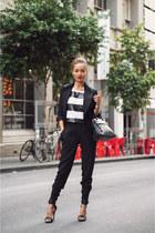 black leather tote Furla bag