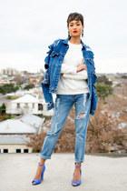 blue shredded denim Coal N Terry Vintage jacket