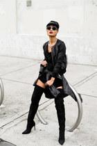 black silk SAXONY jacket