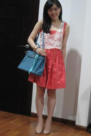 Topshop vest - Topshop dress - Christian Louboutin shoes - Miu Miu accessories
