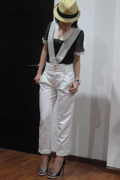 LAMB top - Zara pants - Nicholas Kirkwood shoes