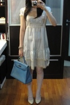 Miss Selfridges dress - River Island shoes - purse