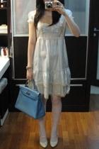 Miss Selfridges dress - River Island shoes - purse