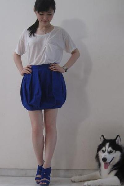 Helmut Lang top - warehouse skirt - Zara shoes