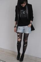 Zara blazer - 2K t-shirt - Zara shorts - Rotelli shoes