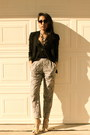 Urban-outfitters-blazer-h-m-pants-bebe-blouse-forever-21-necklace-bakers