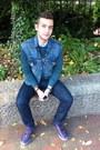 Denim-levis-vest-levis-jeans-gingham-jcrew-shirt-crewneck-h-m-sweatshirt