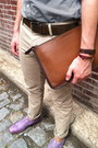 Brown-coach-bag-light-purple-wingtip-cole-haan-shoes