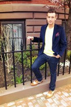 Nautica blazer - wingtip oxford Cole Haan shoes - Levis jeans