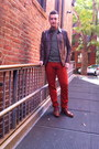 Burnt-orange-h-m-pants-brown-colehaan-shoes-brown-leather-gap-jacket