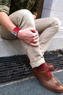 Red-alligator-reed-krakoff-bracelet-brown-cole-haan-shoes