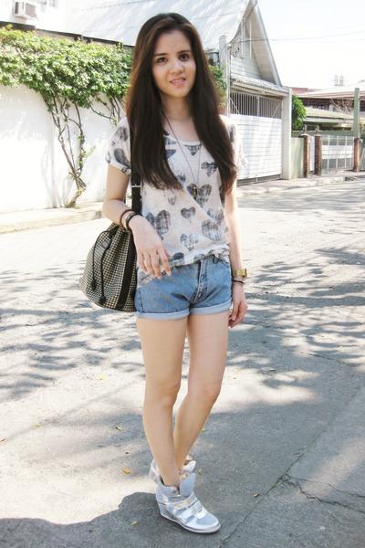 high-waisted Armani Jeans shorts