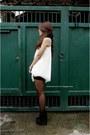 Black-bandage-pink-manila-skirt-booties-rusty-lopez-boots