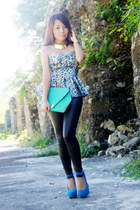 turquoise blue clutch sm accessories bag