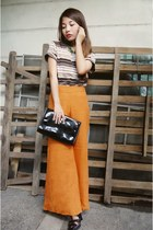 carrot orange wide legged H&M pants
