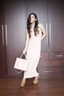 Peach-tube-dress-identite-dress-peach-mini-bag-charles-keith-bag