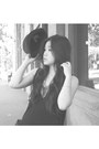 Black-trimapee-dress-black-zara-hat-black-messeca-wedges