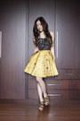 Gold-songket-icorisio-skirt-black-studded-bettina-liano-top