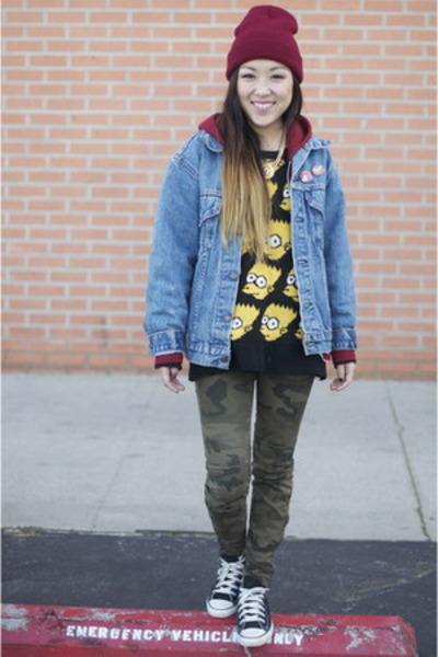 c4116c08c3c11 no brand sweater - beanie Target hat - Levis jacket - Zara pants