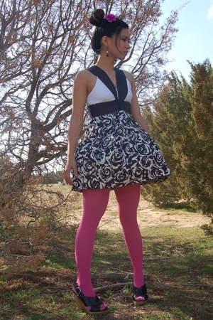 pink f21 accessories - black Steve Madden shoes - pink Target Australia tights