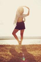 navy bikini top Nautica top - blue high waisted bench shorts