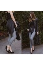 heather gray sweatpants Zara pants - suede Nasty Gal heels