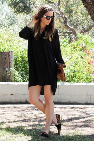 black oversized Topshop dress