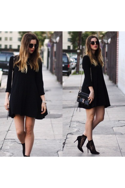 black babydoll Zara dress