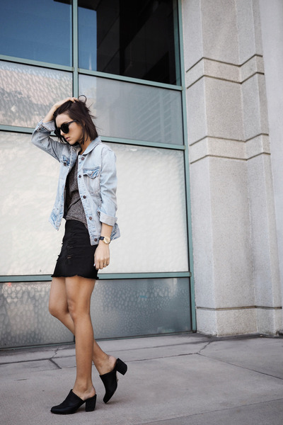 denim abercrombie and fitch jacket