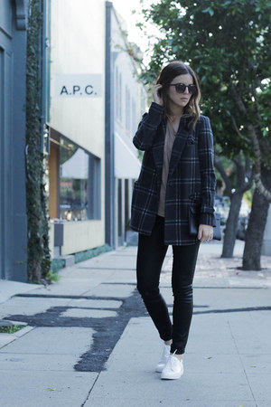 plaid joa coat