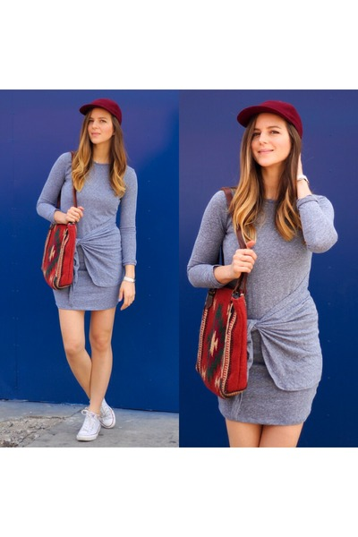 heather gray cotton Delacy Clothing dress