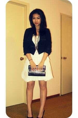 blazer - dress - - Chain necklace