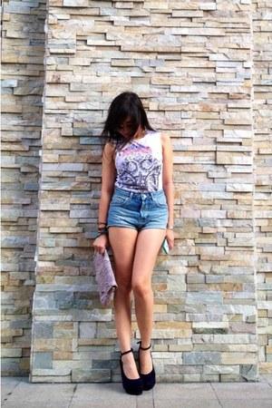 Topshop shirt - Topshop purse - Topshop shorts - Topshop sunglasses