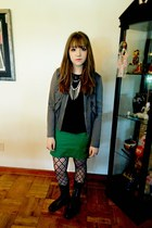 Steve Madden boots - Gap jacket - hollister shirt - Steve Madden tights