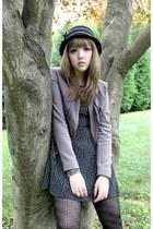 Cracker Barrel hat - black and white Silence  Noise dress - Gap jacket