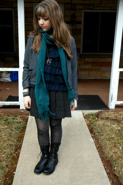 Gap jacket - Madden Girl boots - hollister top - Gap skirt