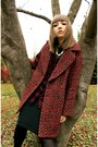 Zara-coat-spicegrl-steve-madden-boots-flannel-express-shirt-hue-tights