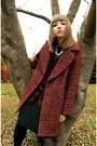 Zara-coat-spicegrl-steve-madden-boots-flannel-express-shirt-hue-tights