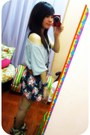 Heather-gray-oversized-forever21-top-navy-floral-print-landmark-skirt-army-g